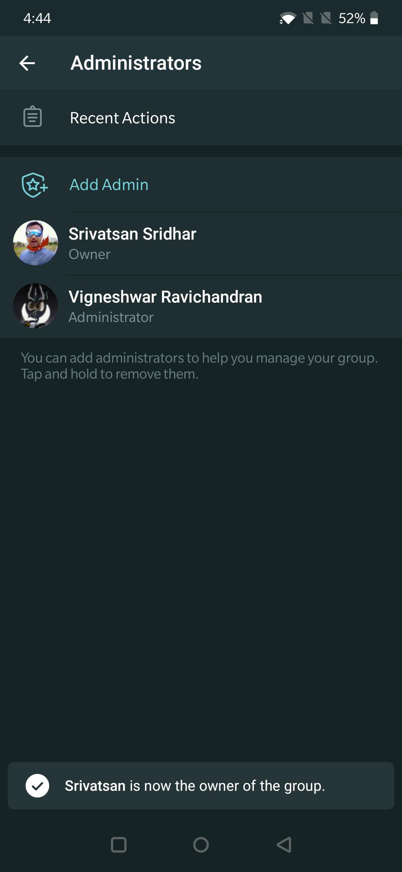 Telegram'da kanal veya grup sahipliği nasıl aktarılır
