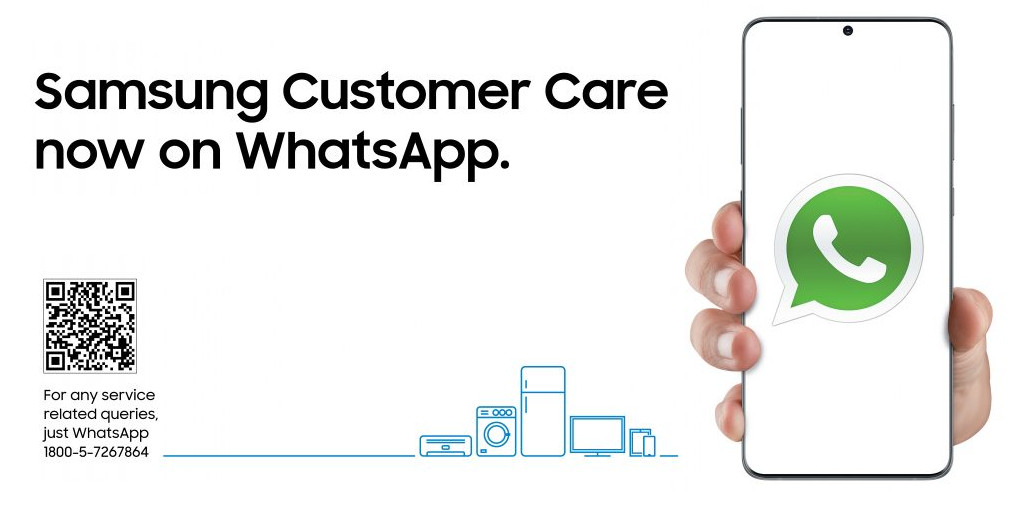 Samsung India now offers customer support on WhatsApp