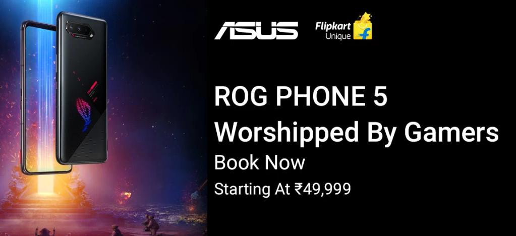 ASUS ROG Phone 5 Pre-orders in India via Flipkart starting