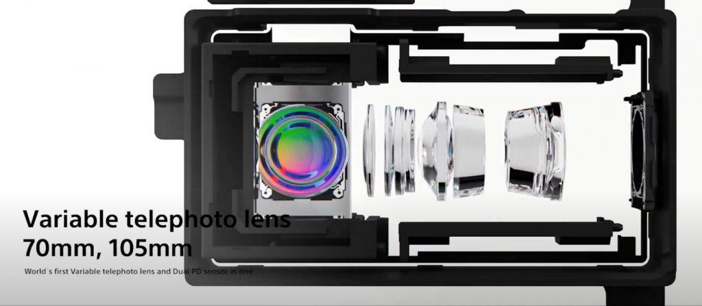 Xperia 1 III menawarkan kamera telephoto dengan focal lenght 70mm dan