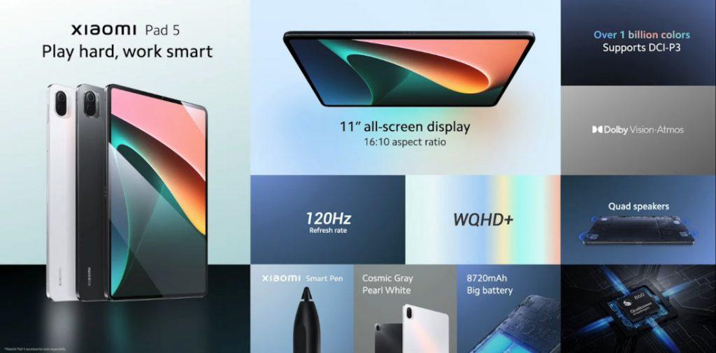 Thông số kỹ thuật của Xiaomi Pad 5